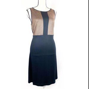 NWT Premise Black Sleeveless Faux Leather  Dress